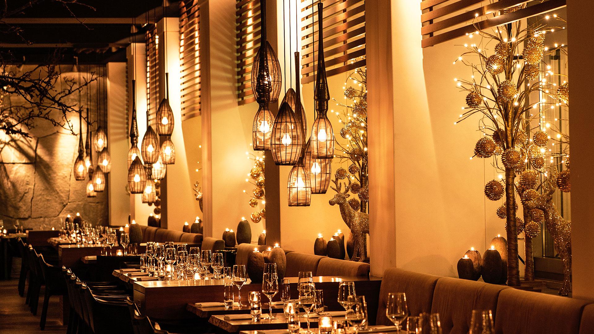 Das Ambiente im AURA Grill-Restaurant